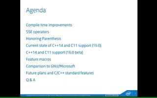 新英特爾C/C++編譯器16.0中C/C++語言...