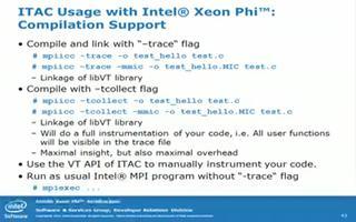 先进的英特尔Xeon Phi?协处理器车间MPI第5部分:微量分析器