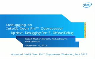 高级英特尔®Xeon Phi™协处理器车间调试第2部分:本机命令行调试