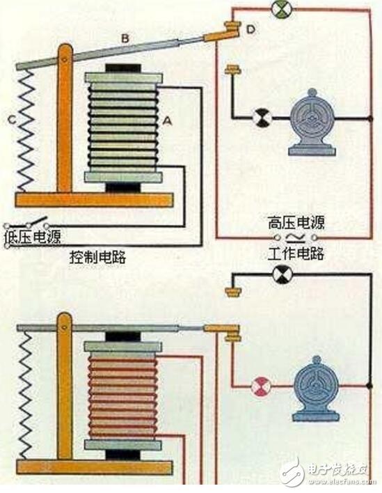 繼電器工作原理接線圖