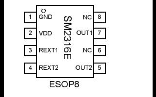 SM2316E单通道LED恒流驱动控制芯片的详细数据手册免费下载