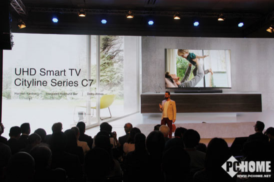 TCL推出新品曲面全面屏电视C7,家庭智能家居的...