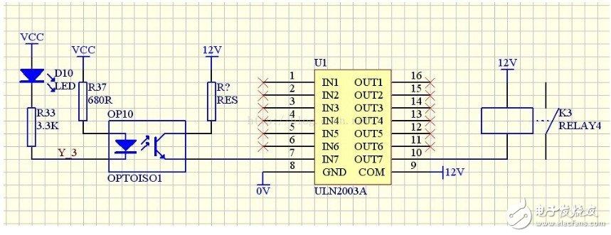 达林顿光耦驱动继电器电路设计