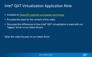 英特尔QuickAssist技术:虚拟化
