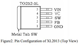 XL2013固定频率PWM降压DCDC转换器的详细数据手册免费下载