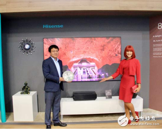 海信推出的新款80吋激光電視L5產品,用技術和體...