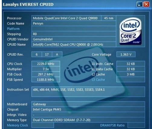 Q9000四核CPU性能测试 浅谈Q9000性能提升