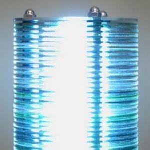 光盘小台灯的制作方法