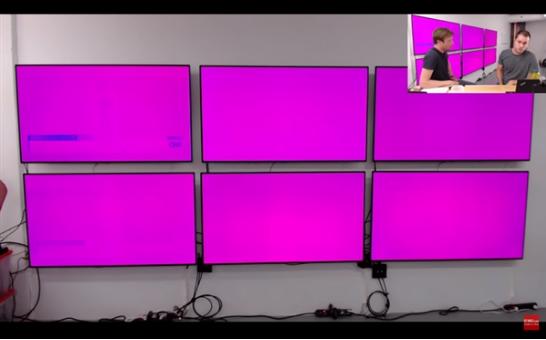 LG OLED电视C7测试,才使用半年多时间就出现了肉眼可见的烧屏问题