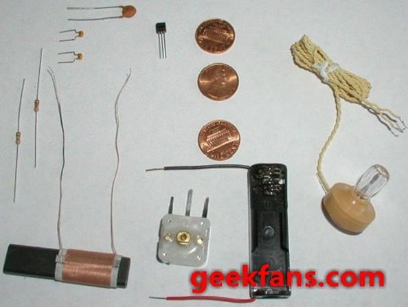 硬币收音机制作图解