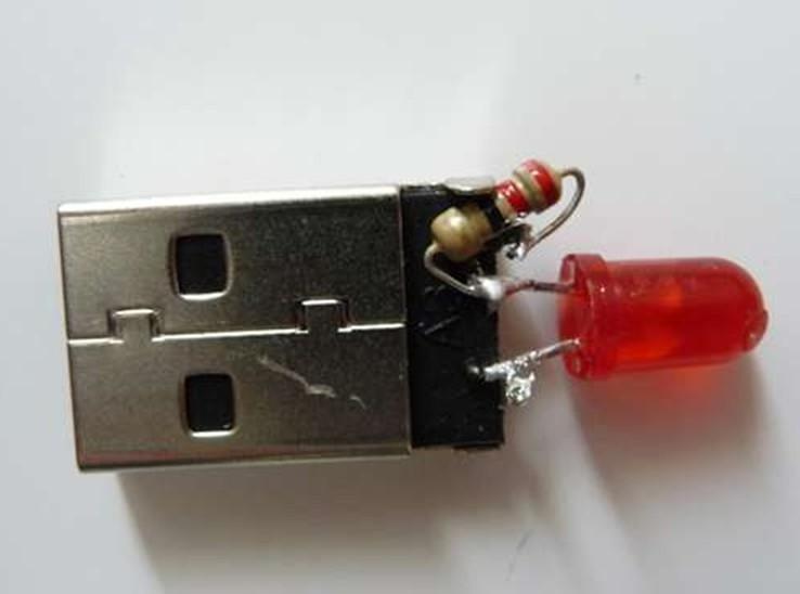 简易USBLED灯的制作方法