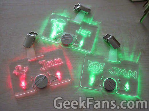 LED发光名片制作方法