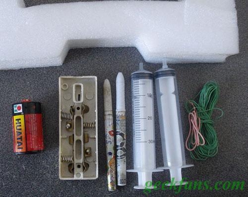 针管盐水电池制作方法
