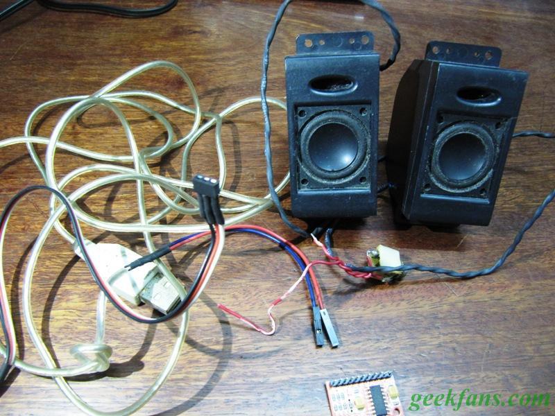 USB桌面有源小音箱制作教程