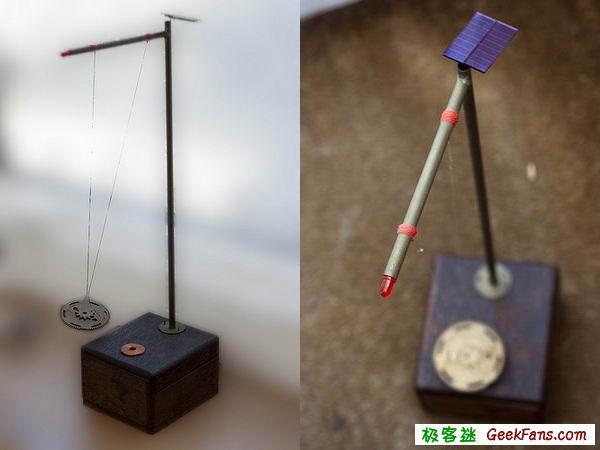 怎样制作太阳能钟摆