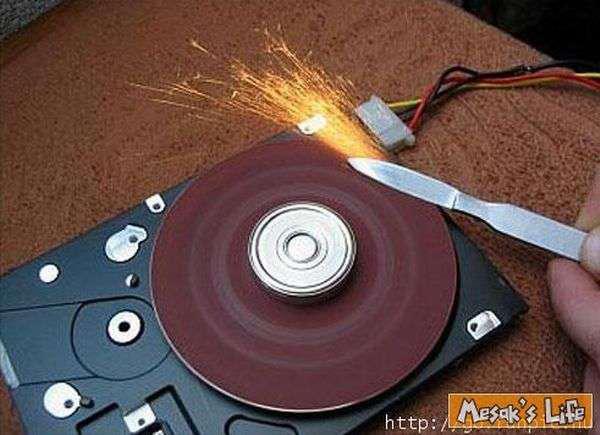 怎样用硬盘制作砂轮机