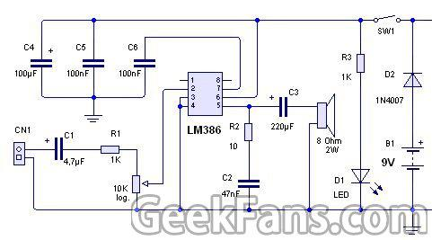 简单音频放大器制作 基于LM386