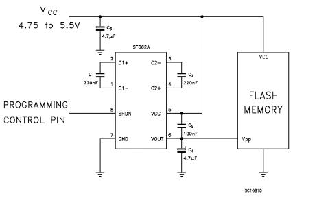 ST662A稳压电荷泵DC-DC转换器的详细应用和数据手册免费下载