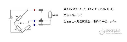 浅谈PT100热电阻三线制接法 PT100热电阻三线制和二线制接法区别