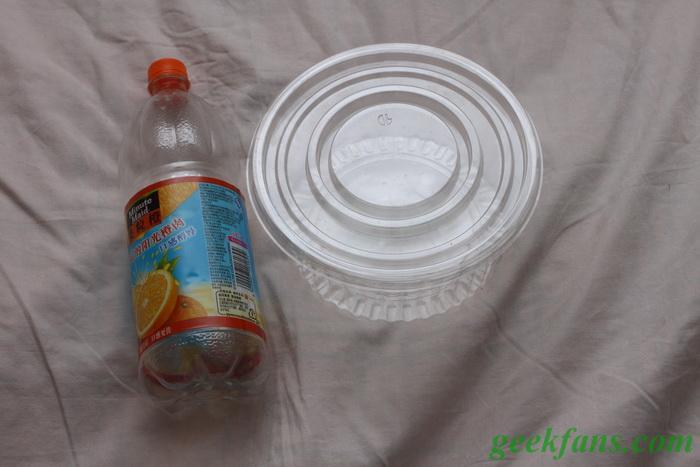 怎样用饮料瓶制作简易环形闪光灯