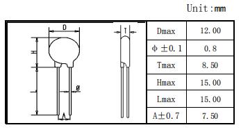 10D471K压敏电阻数据介绍及压敏电阻技术术语各种性能包装方法资料概述
