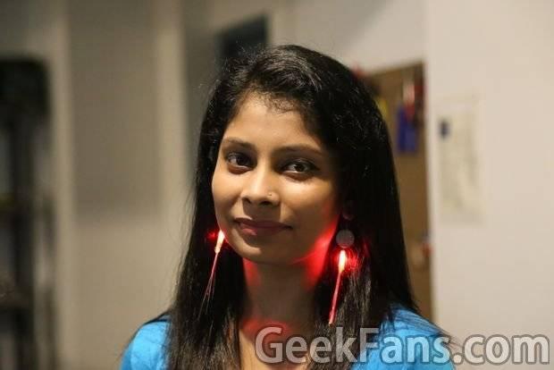 怎样制作LED耳环