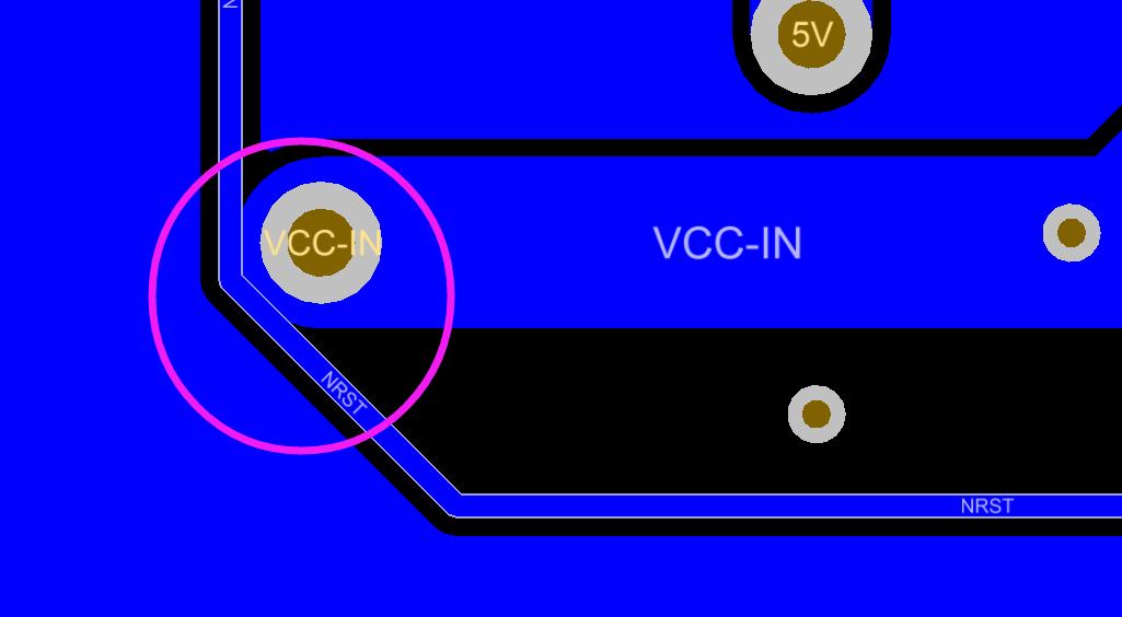 不同网络的线连在一起造成短路示意图1