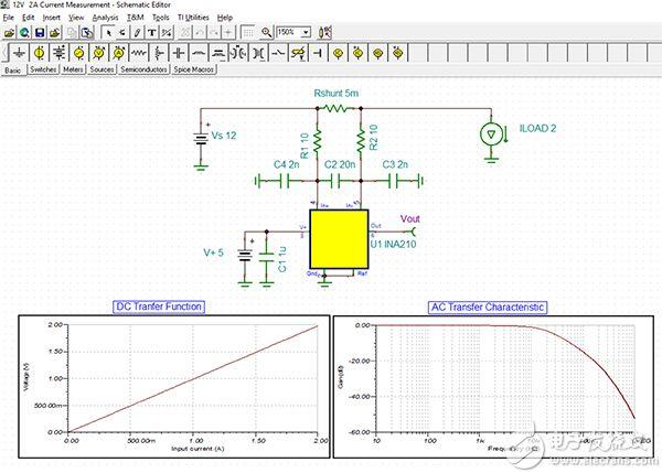 Texas Instruments TINA-TI 电路仿真的图片