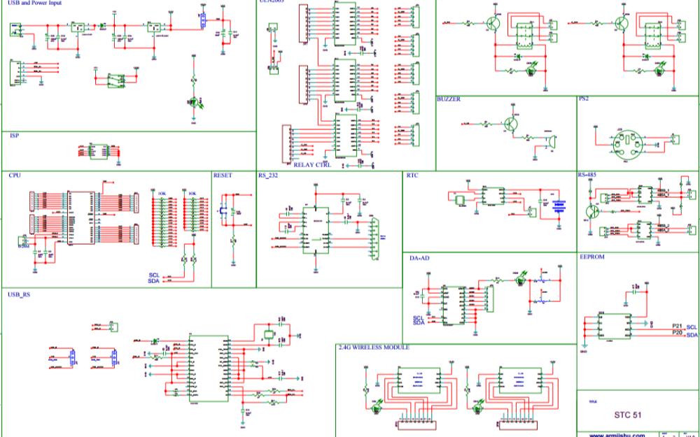 神舟51单片机开发板原理图详细资料免费下载