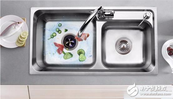 定制现代健康厨房,厨房垃圾处理器好用吗