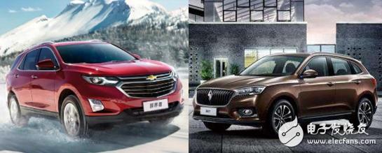 宝沃BX7和雪佛兰探界者实力对比,你更喜欢哪一款中级SUV呢?