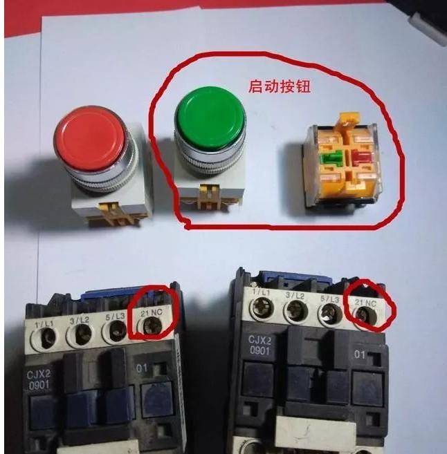 动自锁互锁接线图解 欠压保护:当电源电压由于某种原因下降时,电动机