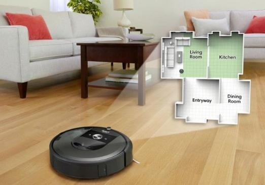 iRobot智能扫地机器人:自带充电器的功能,可实现自动垃圾倾倒