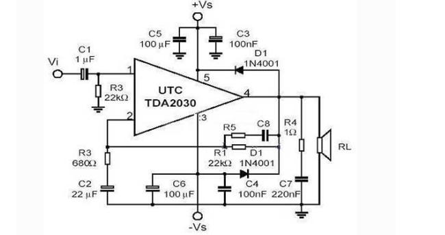 tda2030音频功放电路图详细资料免费下载图片