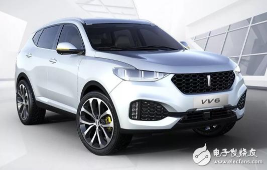 WEY VV6正式登陆市场,将作为百度自动驾驶研发测试车辆