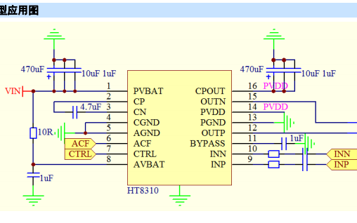 HT8310音频功率放大器的详细数据手册免费下载