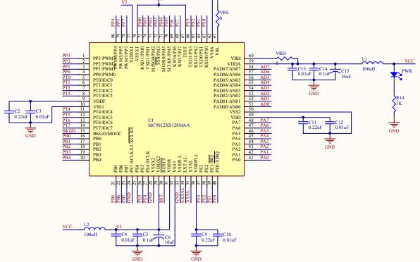 MC9S12 MINI BOARD最小系统详细电路图和PCB图的及相关资料免费下载