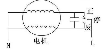 二相电机正反转接线图 二相电机正反转接线实物图