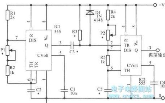 555定时器脉宽可调振荡器EWB电路仿真图的详细资料免费下载