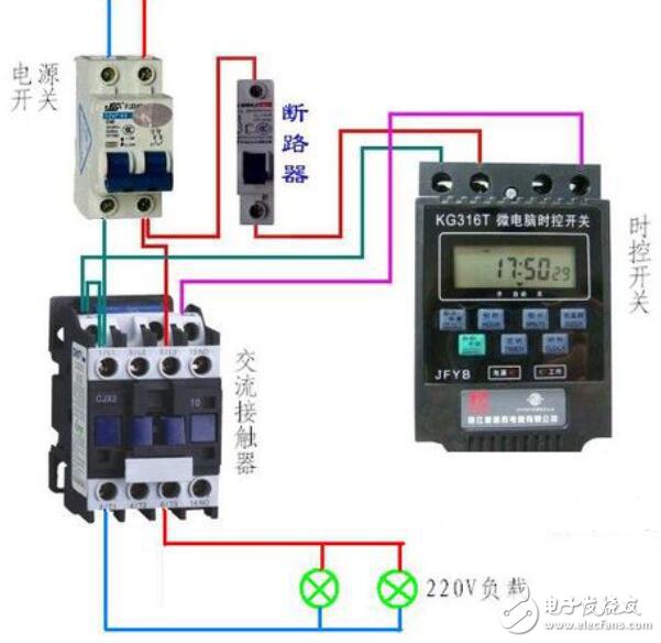 220v接触器实物接线图-电子发烧友网