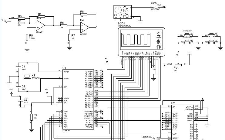 简易示波器修改版的详细资料合集包括了:ADC0808的程序