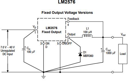 LM2576降压开关稳压器的详细数据手册免费下载