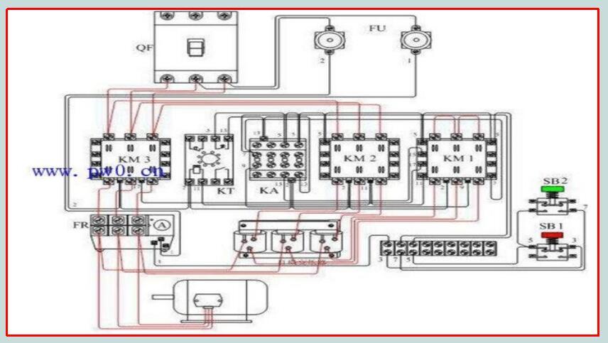 如上述电机自耦降压启动接线图对照原理图核对接线,要逐