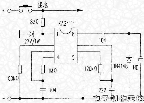 电动车铃改造电路