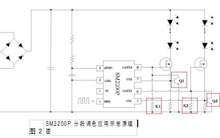 SM2200P双通道倍功率调色LED恒流驱动控制器的详细数据手册免费下载