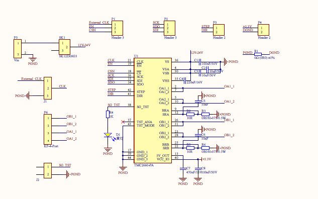 TMC2660原理图和四层板布线PCB的详细资料免费下载