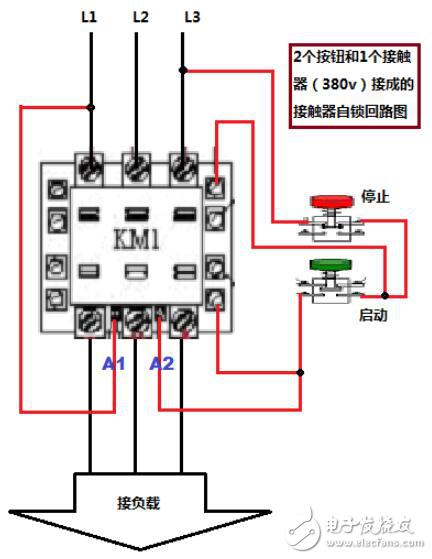 接触器a1和a2怎么接线