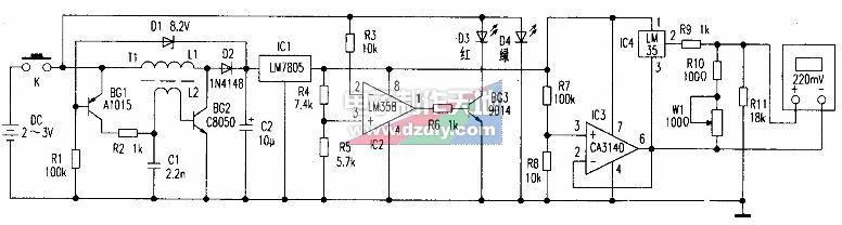 采用LM35配合数字万用表制作电子温度计