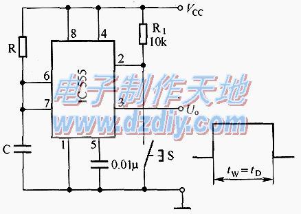 单稳态触发式定时电路