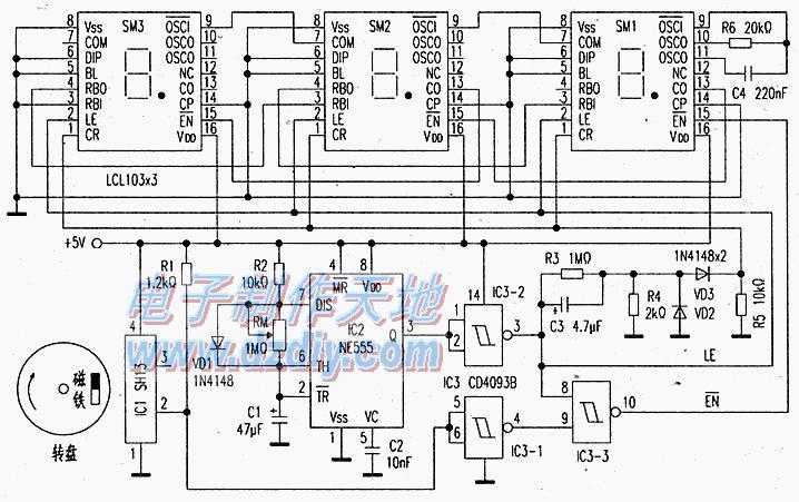 LCL103集成化数字测速电路